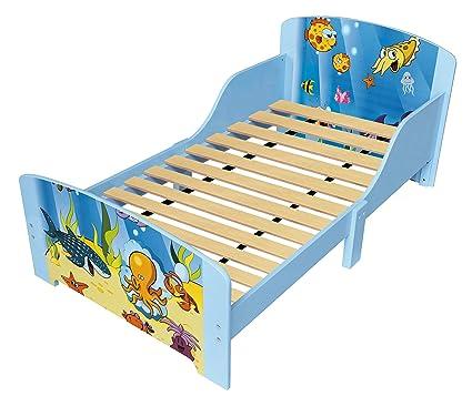 Niños marco de cama de madera cama cuna bajo el mar océano tema tira ...