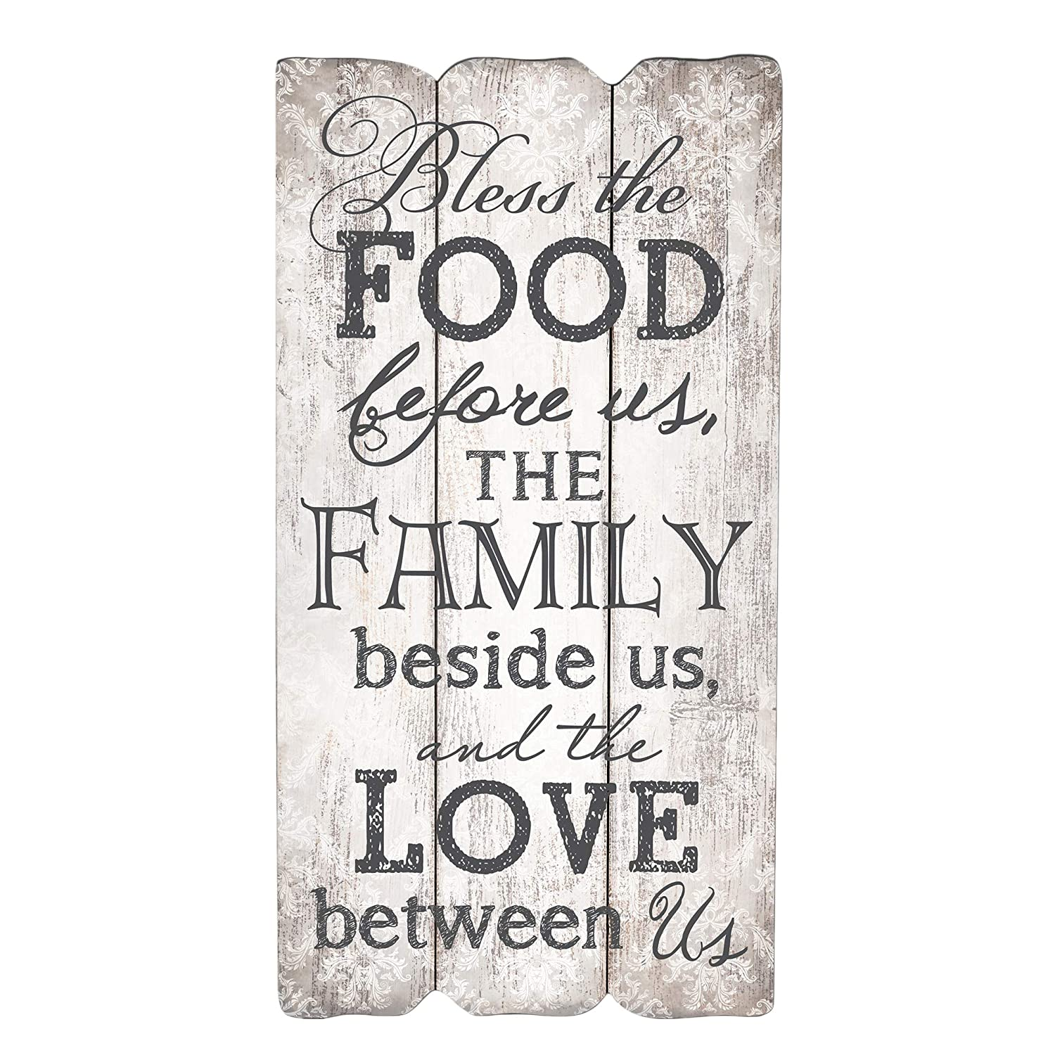 P. Graham Dunn Bless The Food Family and Love 12 x 6 Small Fence Post Wood Look Decorative Sign Plaque 811V-Dh3SCL