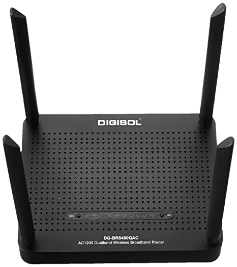 Digisol DG BR5400QAC AC1200 Dual Band Wireless Router  Black  Routers