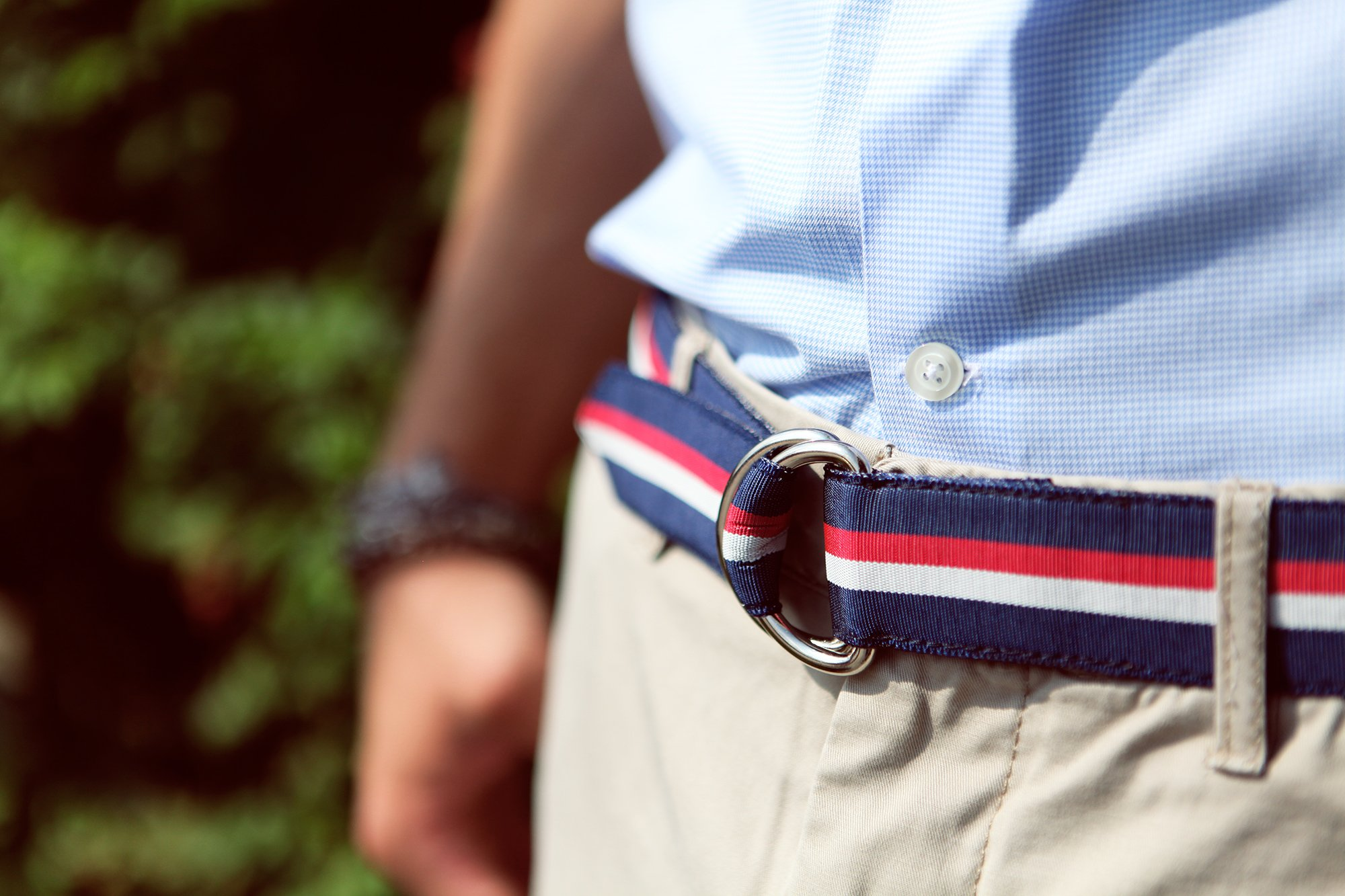 F.H. Wadsworth Grosgrain Ribbon D-Ring Belt (X-Small, Selvedge) by F.H. Wadsworth (Image #3)