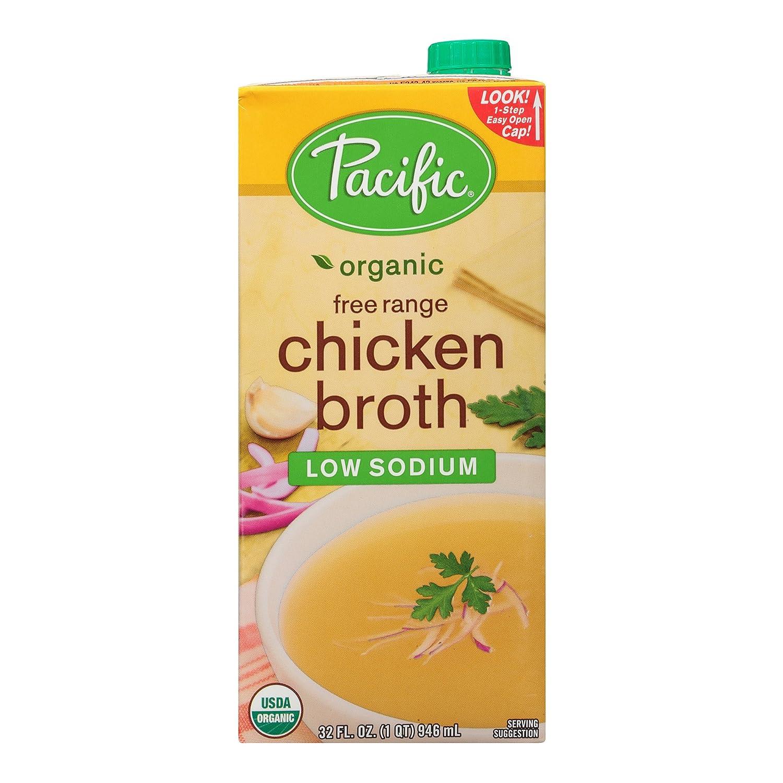 Pacific Foods Organic Free Range Chicken Low Sodium Broth, 32 oz