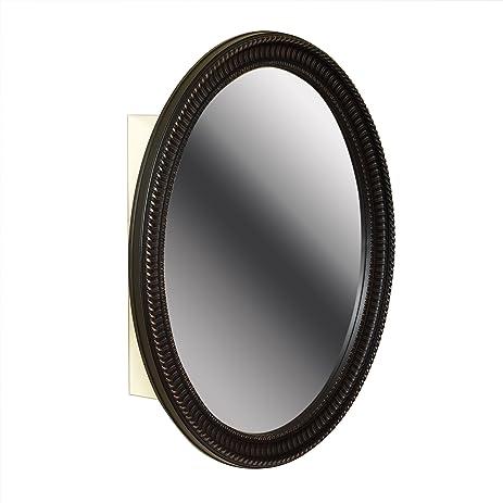 Amazon.com: Zenith BMV2532BB, Oval Mirror Medicine Cabinet, Oil ...