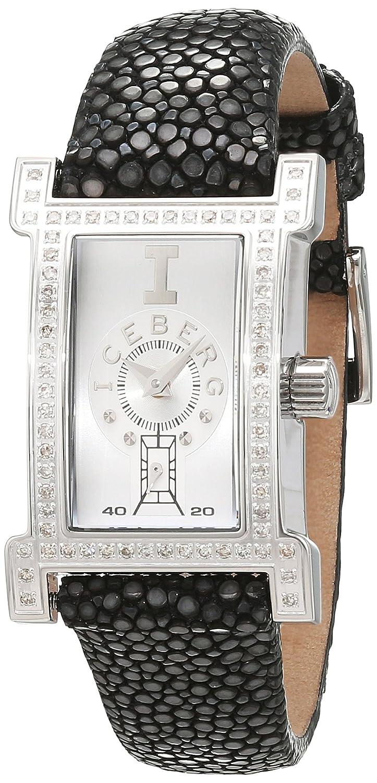 Iceberg Damen-Armbanduhr Analog Quarz Leder IC0510-12