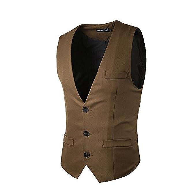 SantFe Chalecos Hombre de Vestir de Boda Blazers Traje Negocio Ropa de Abrigo Regalo para Hombre: Amazon.es: Ropa y accesorios