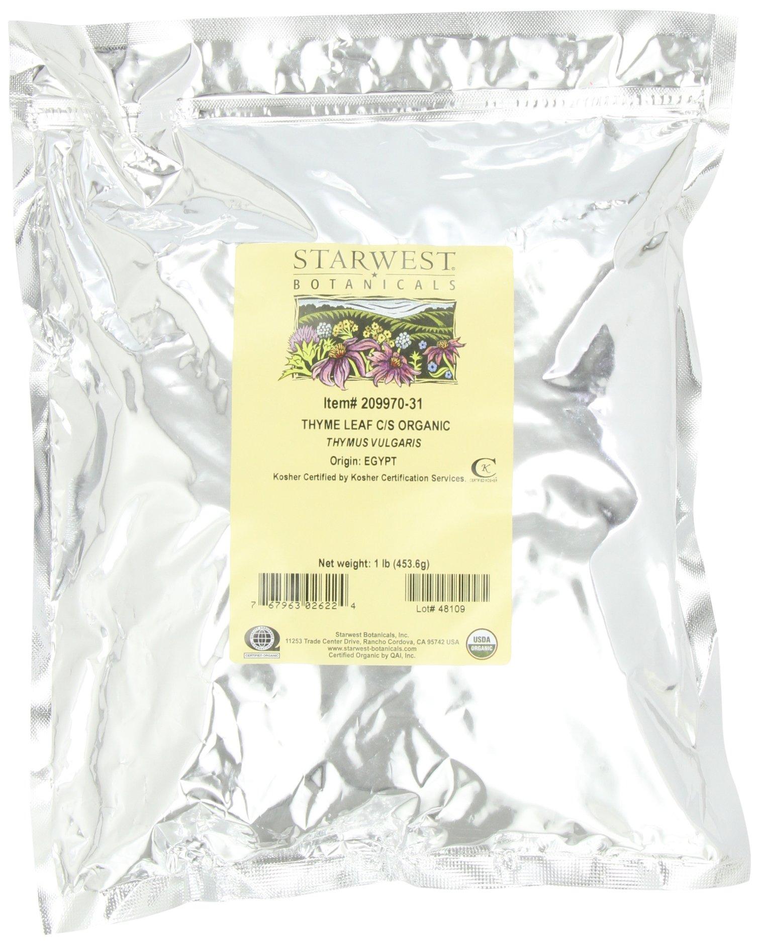 Starwest Botanicals Organic Thyme Leaf Cut, 1-pound Bag