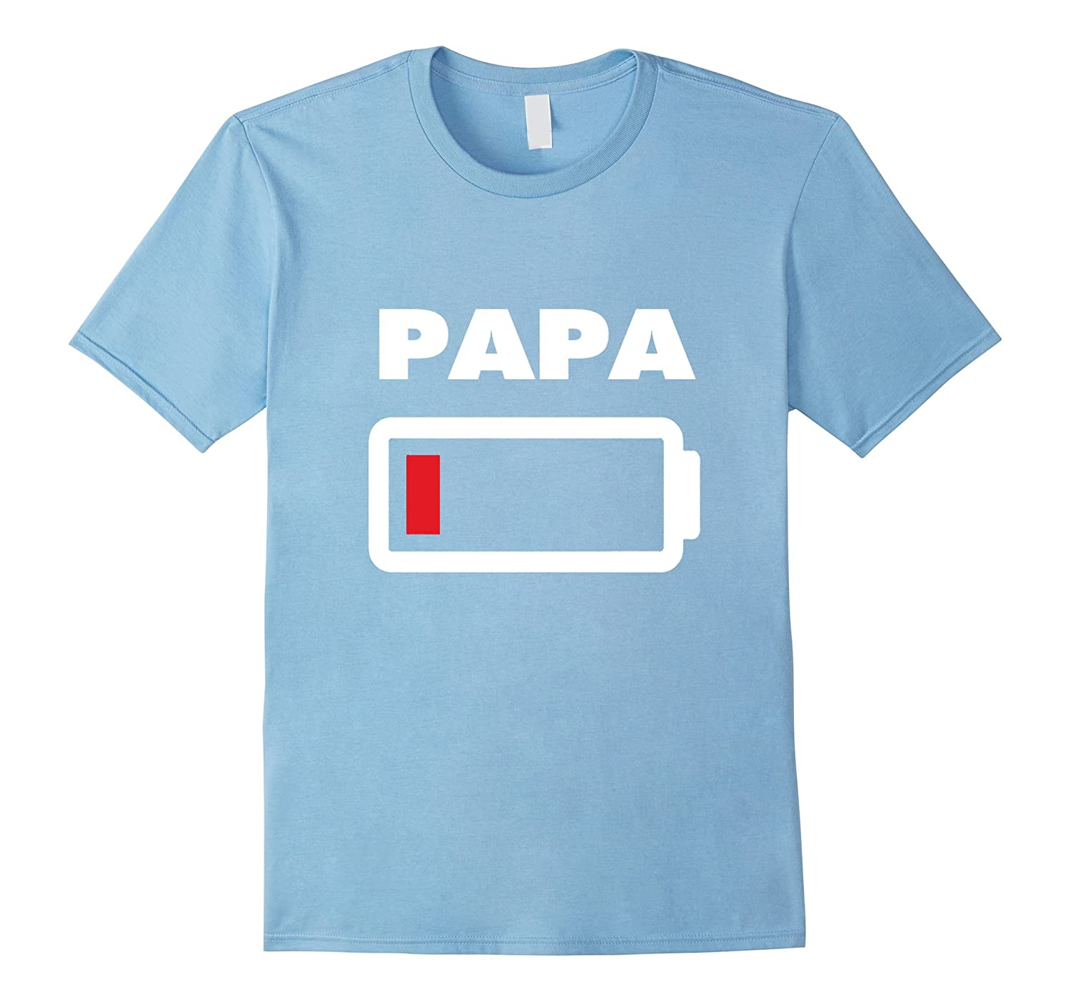 Papa Battery Empty shirt - Mom and Son matching Outfits 6-TH