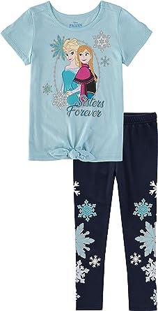 Frozen 2 Toddler Girls Navy Blue Hoodie 2pc Legging Set Size 2T 3T 4T 4 5 6 6X