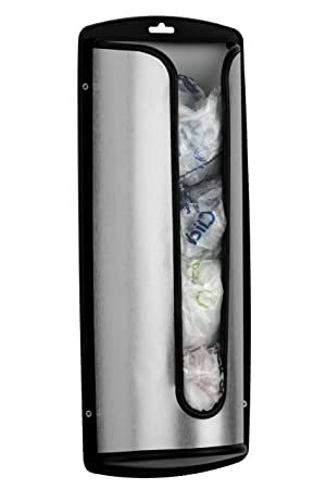 Premier Housewares - Organizador de bolsas de plástico (acero inoxidable): Amazon.es: Hogar
