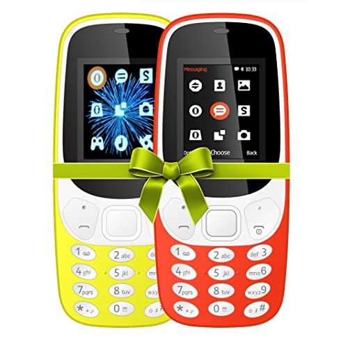 IKALL K3310 1. 8-inch Mobile Phone (Dual Sim, Yellow and Red, 64 MB) - Combo of 2