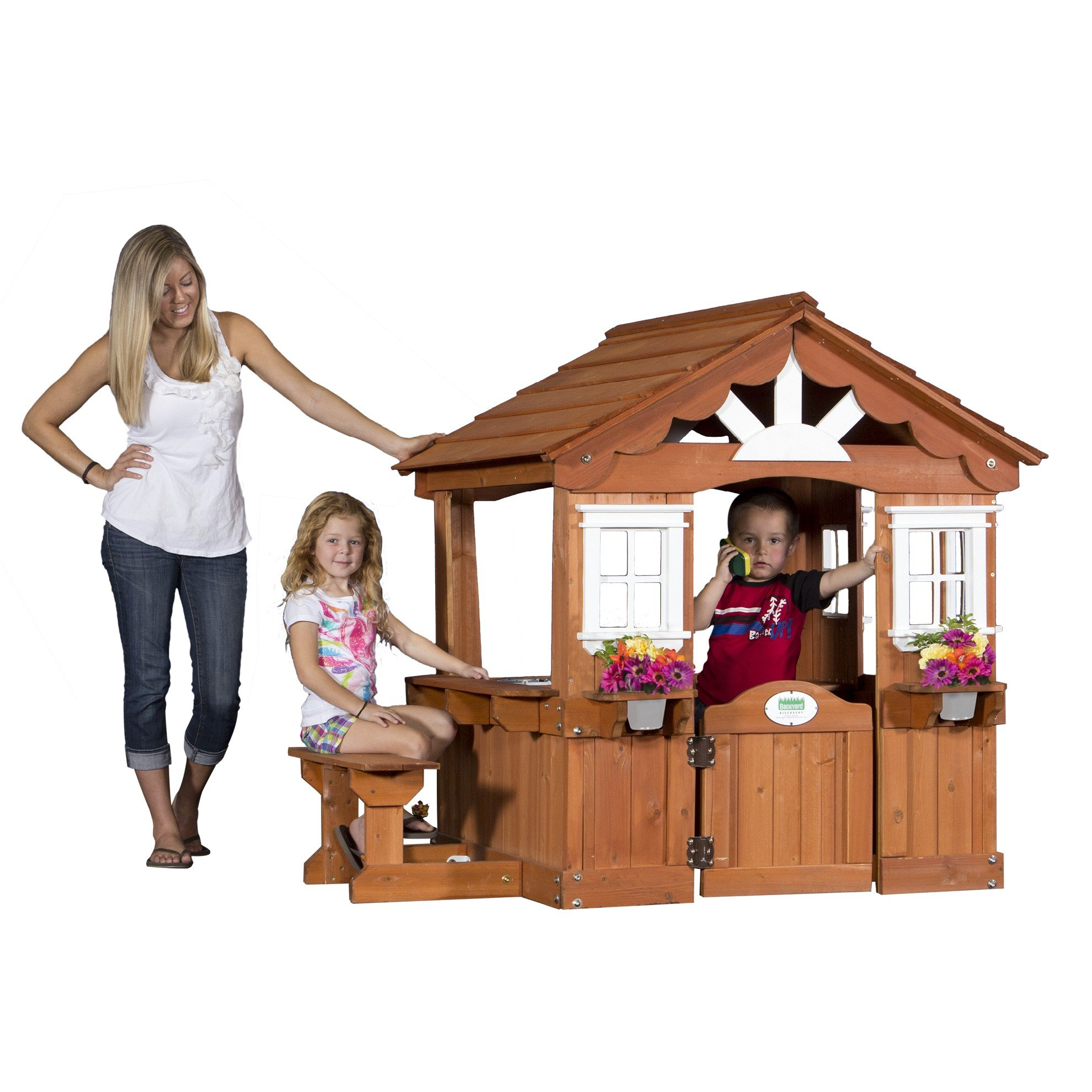 Backyard Discovery Scenic All Cedar Outdoor Wooden Playhouse by Backyard Discovery (Image #1)