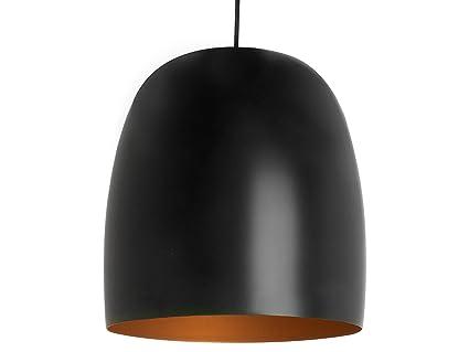 Leitmotiv lm v kalimero pendant lamp black with gold
