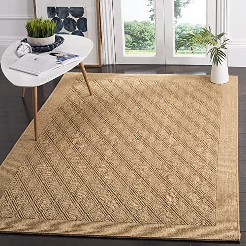 Safavieh Palm Beach Collection PAB351M Maize Natural Sisal and Jute Area Rug 8' x 10'