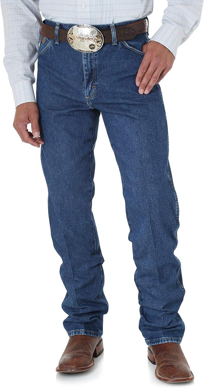 Wrangler Men's George Strait Cowboy Cut Original Fit Jean , Heavyweight Stone Denim, 32W x 36L