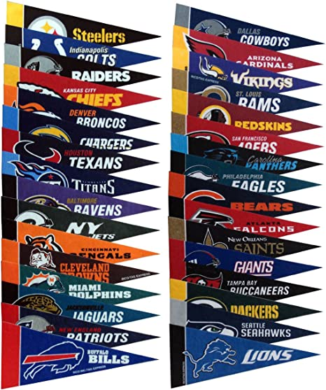 "NFL Buffalo Bills American Football Mini Pennant 9/"" x 4/"" FREE Shipping"