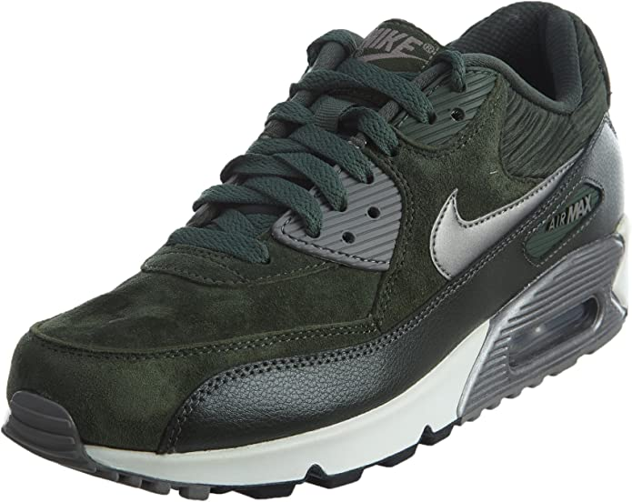 Nike Air Max 90, Baskets pour Femme Carbon Green