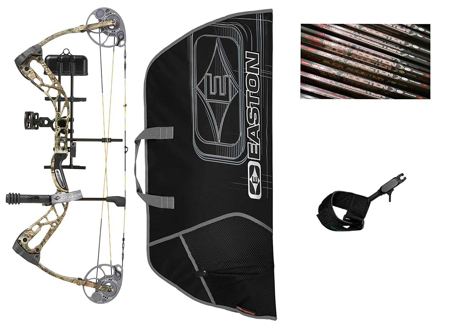 Diamond Edge SB-1 Compound Bow Mossy Oak Country Camo Ready to Hunt Package 7-70lbs Left Hand