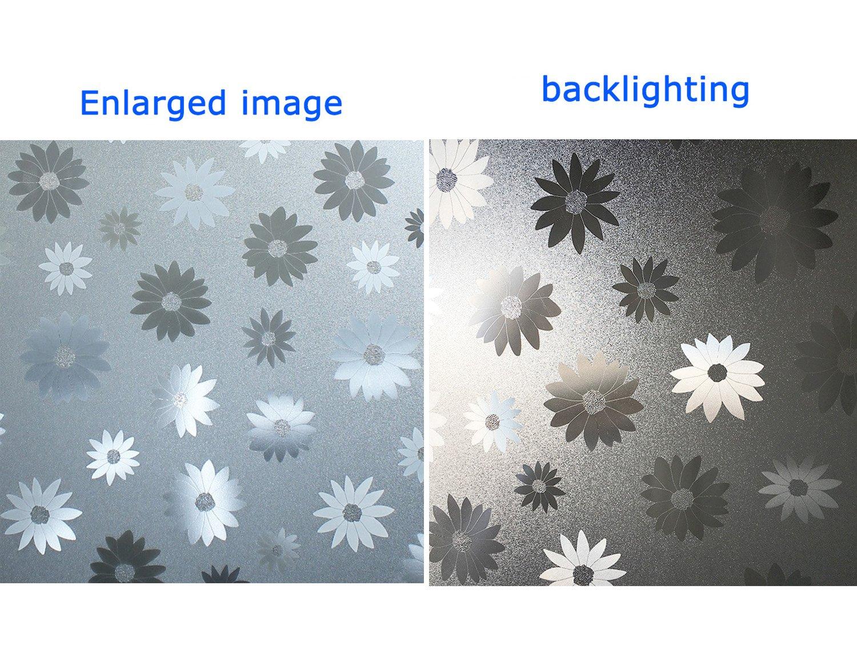 90cm X 200cm, DL035 DuoFire Film pour Fen/être Intimit/é Film pour Fen/être D/époli Film pour Fen/être D/écoratif Electrostatique Autocollant de Fen/être Film Anti-UV