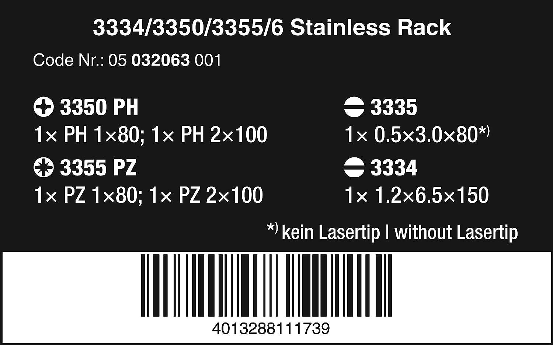 Stainless Screwdriver Set 12Pc Sl//Ph//Sq Wera 3334//12-5347903001