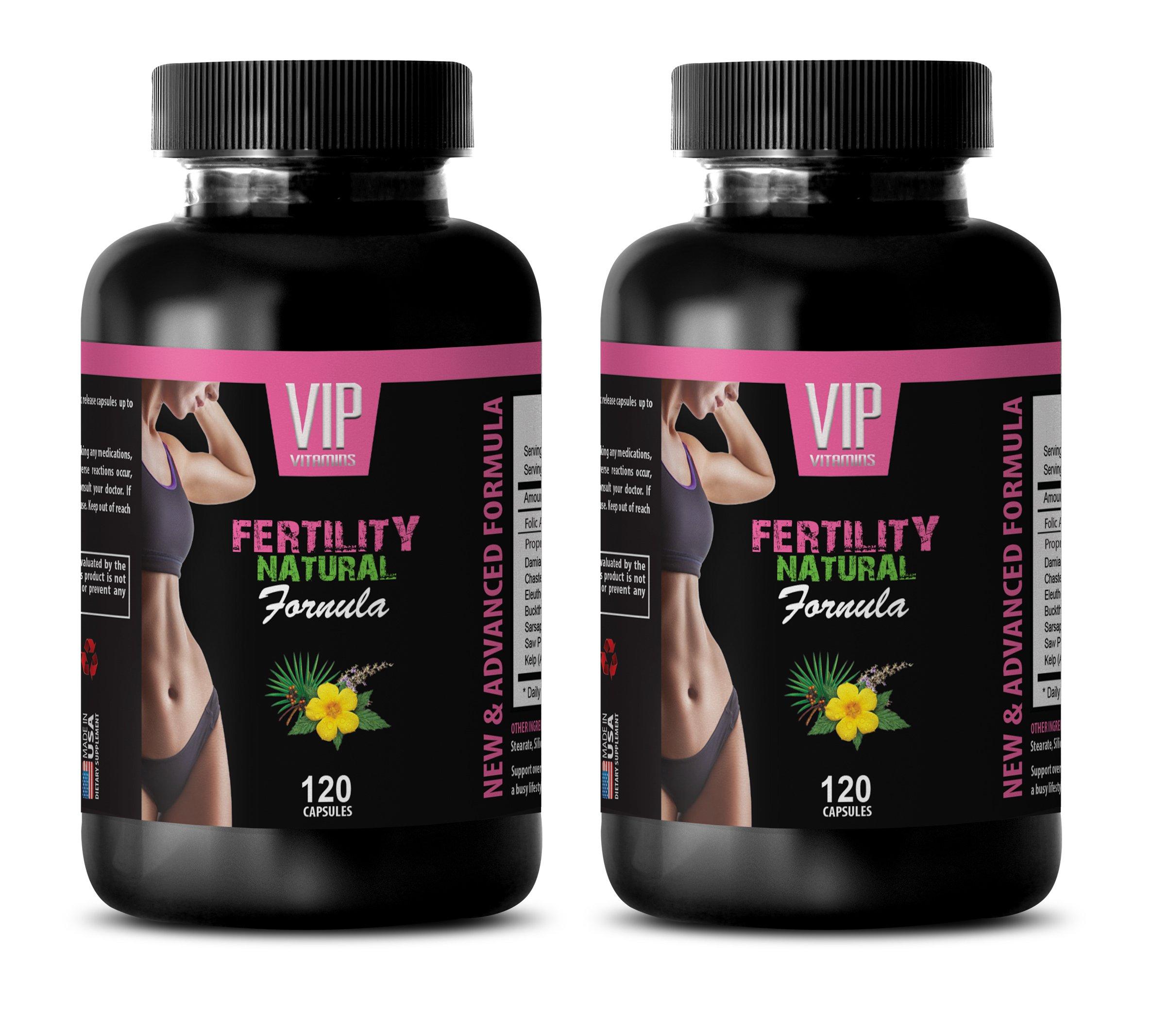 fertility supplements for older women - FERTILITY NATURAL FORMULA - FOR WOMEN'S ONLY - folic acid vitamins for women - 2 Bottles 240 Capsules