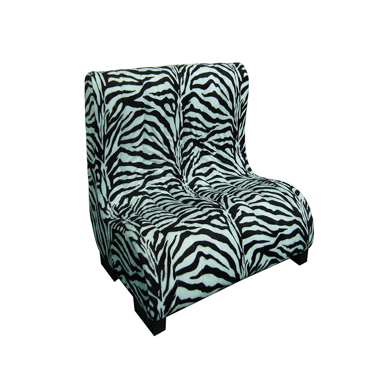 ORE International Plush Zebra Print Tufted Upholstery Pet Bed, 23-Inch