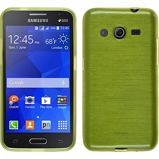 33 opinioni per PhoneNatic Custodia Samsung Galaxy Core 2 Cover verde pastello brushed Galaxy
