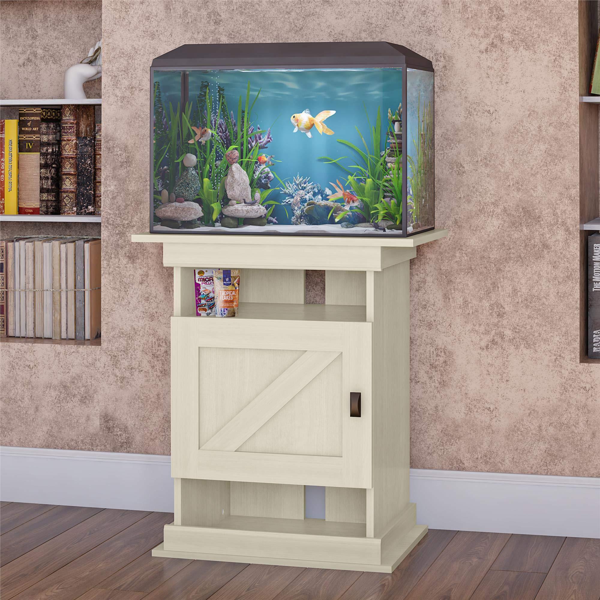 Ollie & Hutch Farmington Flipper, Ivory Oak aquarium stand