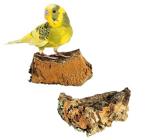 Mr. Petz - Bandeja Madera de Corcho para Jaula pájaros Juguete ...