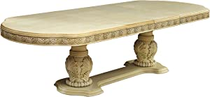 Furniture of America Aragon Formal Dining Table, White
