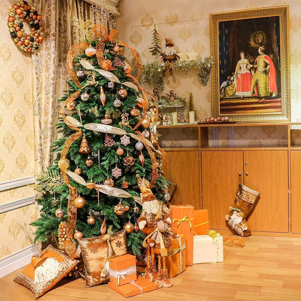 Valery Madelyn 100 Piezas Bolas de Navidad de 3-8cm, Adornos  (Cobre Dorado) 7
