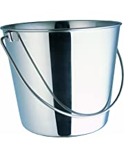 HEAVY DUTY PAIL 800102 Indipets Stainless Steel Pail, 6-Quart
