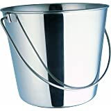 Indipets Heavy Duty Stainless Steel Pail, 13-Quart
