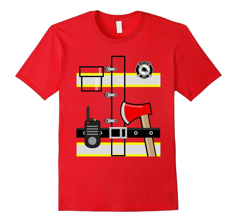 Firefighter Fireman Uniform Men Women Kids Dress up TShirt-T-Shirt