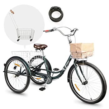 Viribus Adult Tricycle 24 in Single Speed Bike