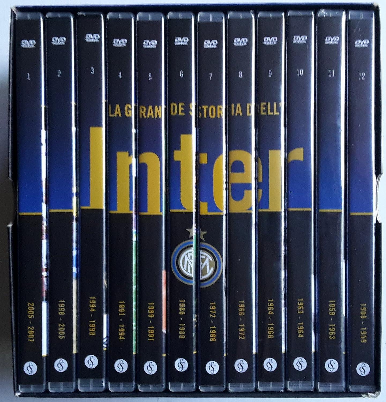 F C Internazionale Inter La Grande Storia Dell Inter 1908 2007 Opera Completa Box Cartonato 12 Dvd Edizione Editoriale Italian Language Amazon Co Uk Dvd Blu Ray