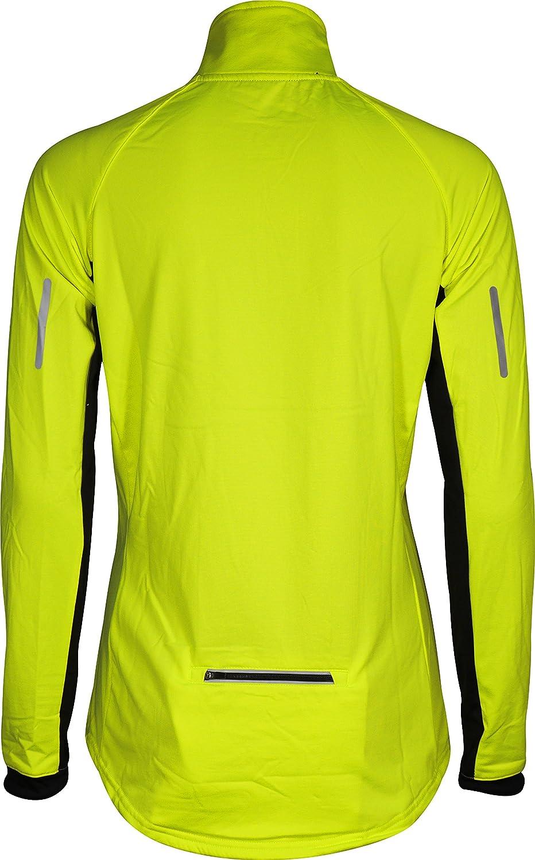 More Mile Vancouver 2 Womens Half Zip Thermal Running Top Yellow