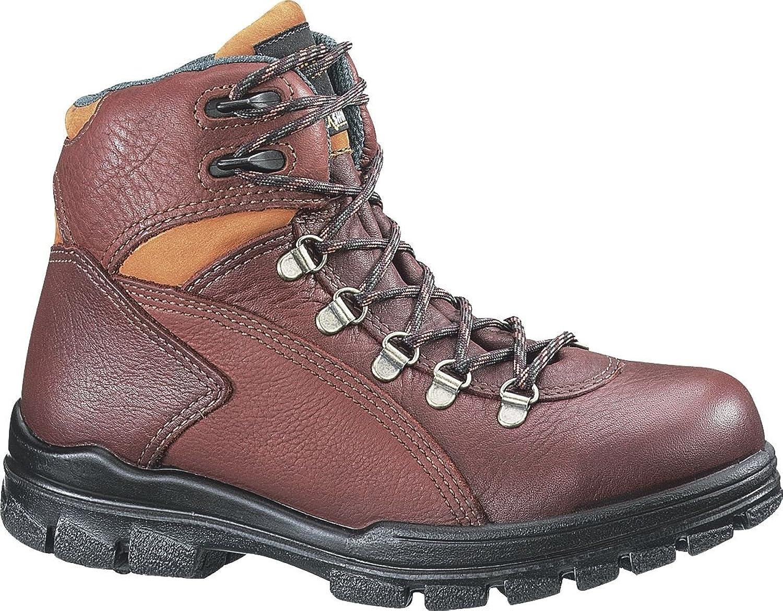 """Women's Wolverine DuraShocks 6"""" Waterproof Steel Toe EH Work Boots Brown"""