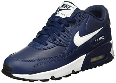 factory authentic 73437 adae3 Nike Unisex-Kinder Air Max 90 Leather (GS) Shoe Low-Top Blau