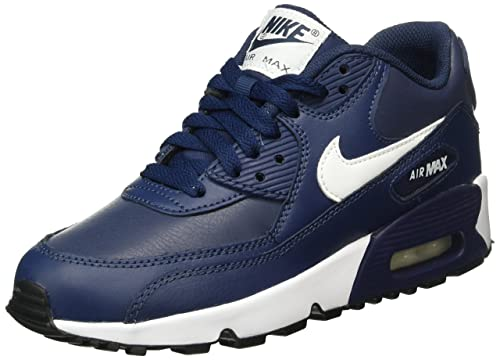 hot sale online e5505 5361b Nike Air MAX 90 LTR (GS), Zapatillas de Running para Hombre, Azul (Midnight  Navy White-Black), 38 EU  Amazon.es  Zapatos y complementos