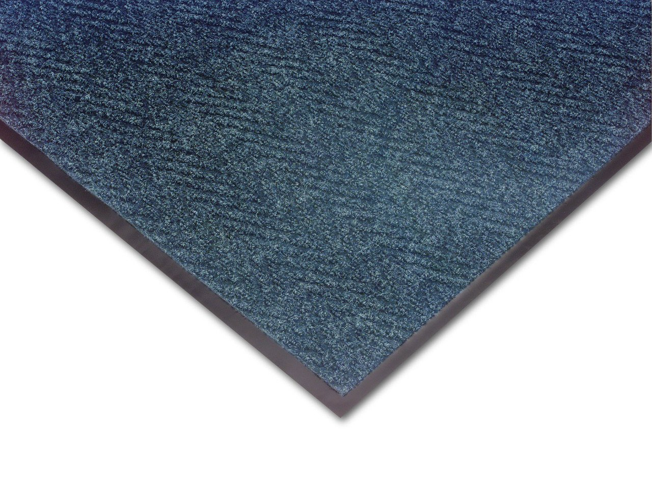 NoTrax 105 Chevron Entrance Mat, for Lobbies and Indoor Entranceways, 3' Width x 10' Length x 5/16'' Thickness, Slate Blue