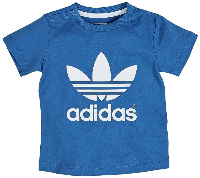 Adidas Camiseta Manga Corta I Trefoil Azul/Blanco 9-12 Meses (74/