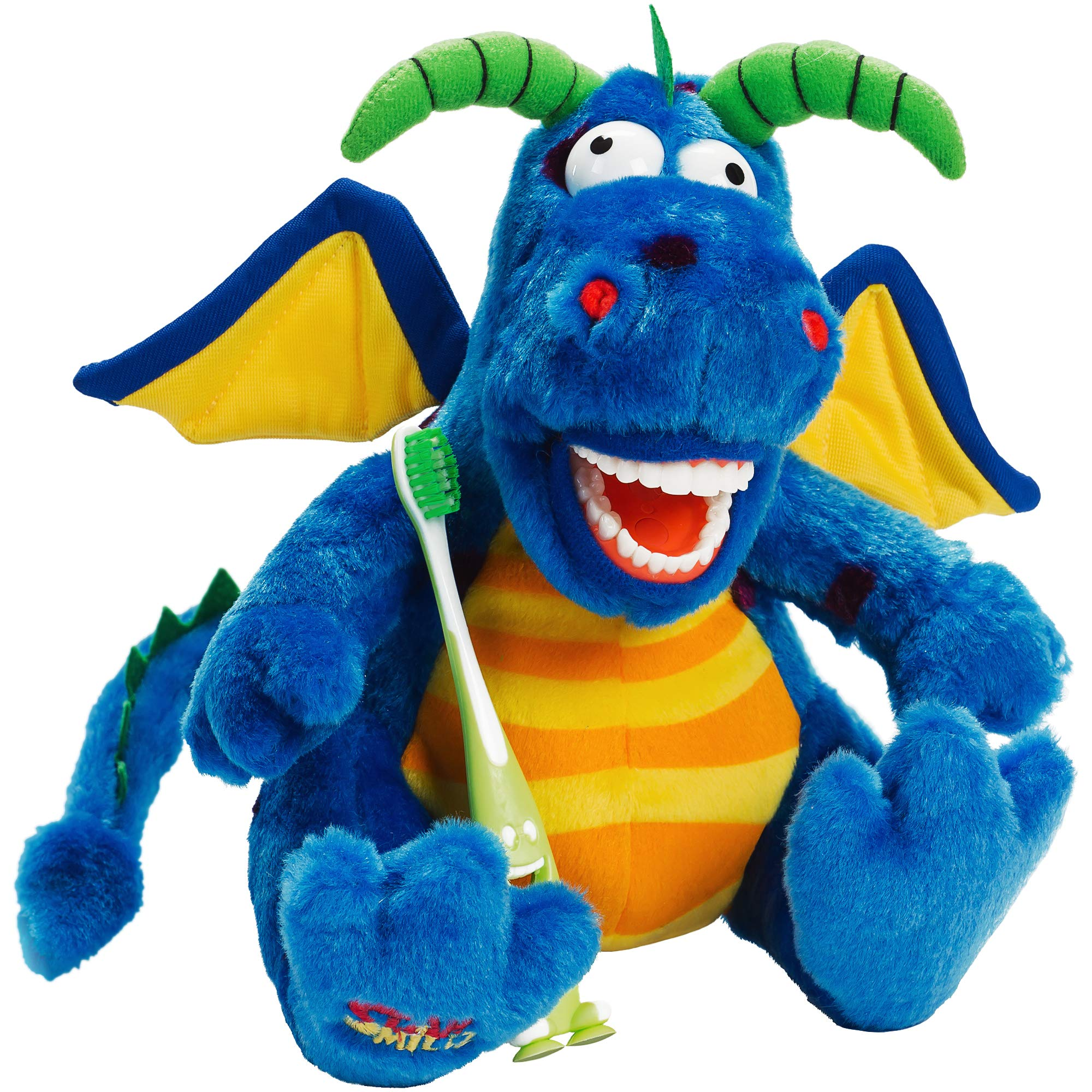 StarSmilez Kids Tooth Brushing Buddy Lil Magi Dragon - Plush Dental Education Helper - Teach Children flossing and Overall Care for Mouth and Teeth