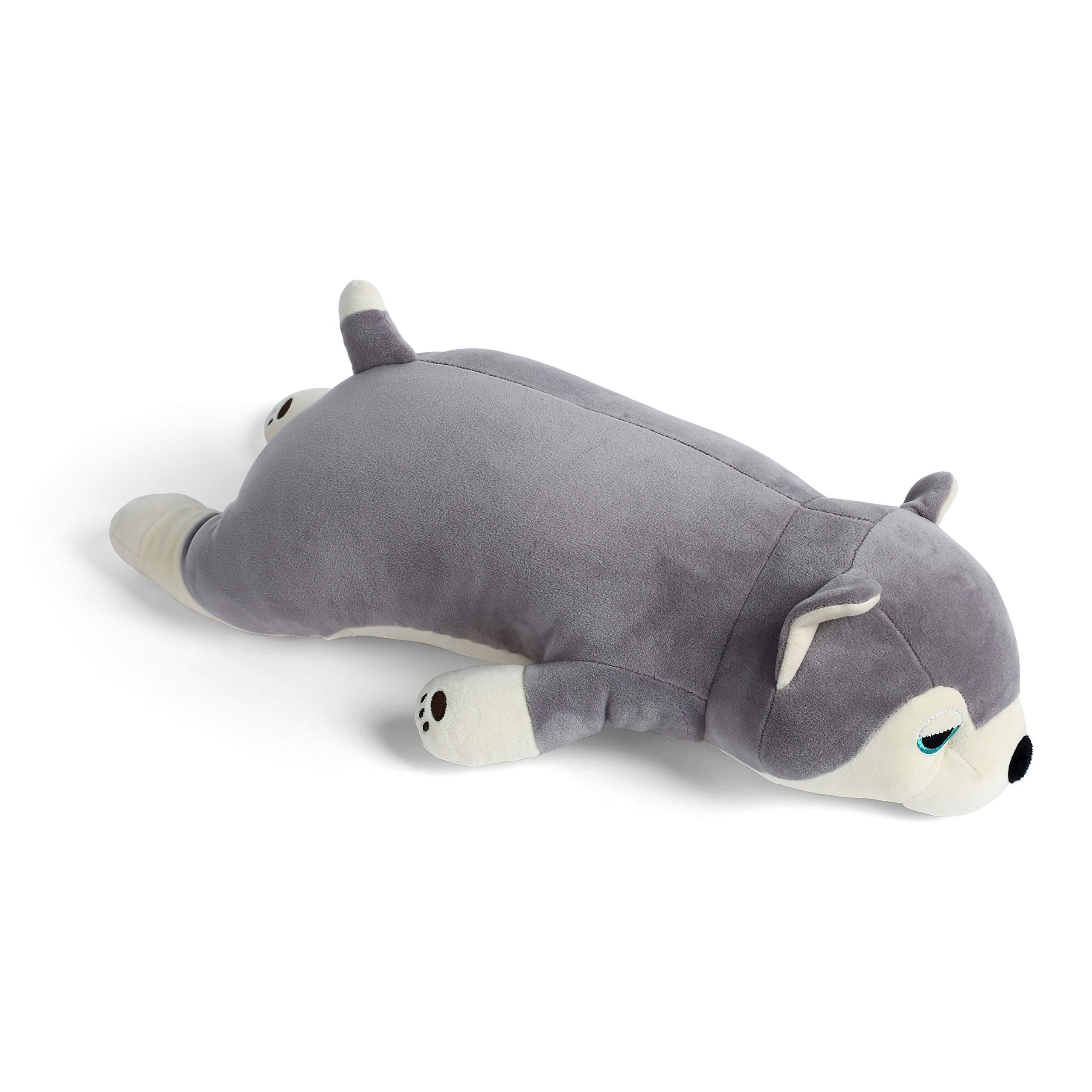 meowtastic Husky Plush Pillow Toy Stuffed Animal Puppy Throw Pillow Baby Boy Girl Pet 20 Inches