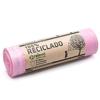 Relevo 100% Reciclado Bolsas Basura Perfumadas, extra ...
