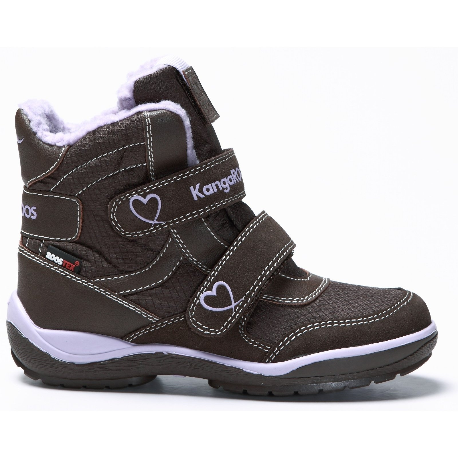 KangaROOS Childrens/Girls Short Leg 2019 Snow Boots (3.5 US) (Brown/Lime)