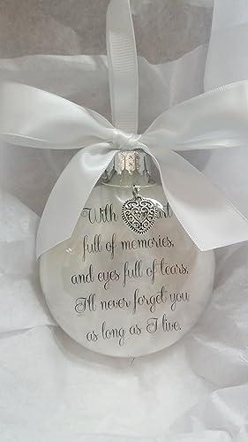 amazon com memorial christmas ornament w charm sympathy keepsake