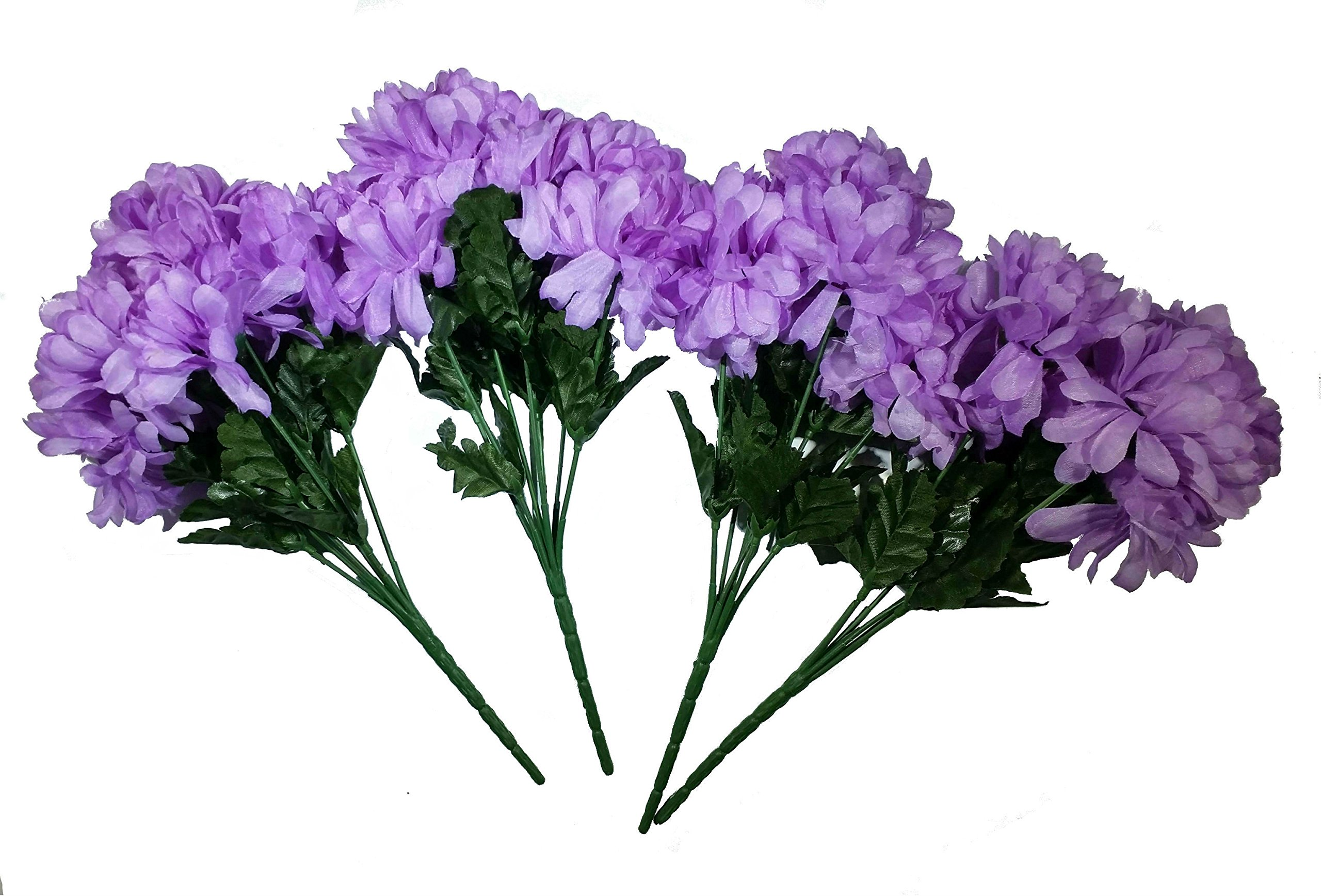 MM-TJ-Products-Artificial-Chrysanthemum-Bush-7-Stems-Pack-of-4