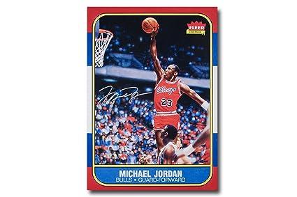 2c61b0507b5 Michael Jordan Autographed  quot Fleer Rookie Card quot  12.5x17.5 Blow Up  Print