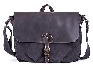 992f4f9f0d Image Unavailable. Image not available for. Color  Gootium Canvas Leather  Messenger Bag - Vintage Shoulder Bag