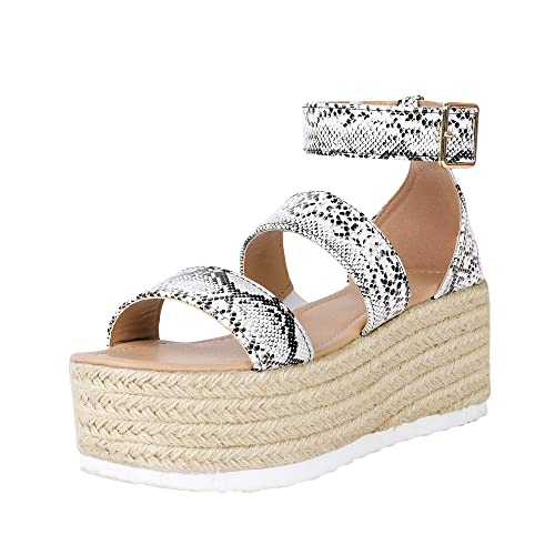 5e0bbfe9607 Liyuandian Womens Platform Espadrille Sandal Peep Toe High Heel Wedges  Sandals with Ankle Strap Buckle Up Shoes