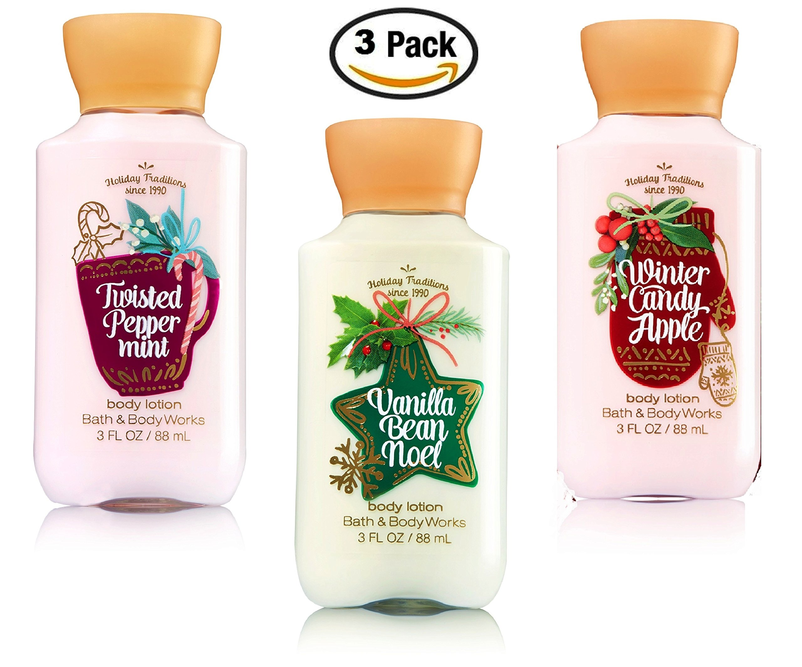 Bath and body works holiday scents - Bath Body Works 2015 Holiday Tradition S Trio 3oz Travel Lotions Gift Set Winter Candy